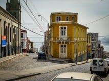 Chile Valparaiso miasta street view fotografia stock