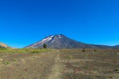 chile vulkan Arkivfoton