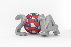 Chile world cup 2014 Stock Images