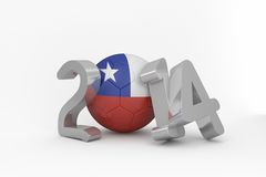 Chile world cup 2014 Royalty Free Stock Photography