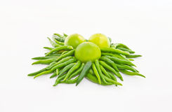 Chile y limón verdes Foto de archivo libre de regalías