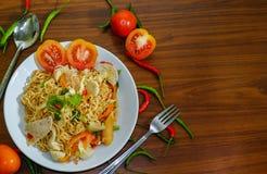 Chile y tomate Imagenes de archivo