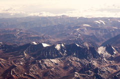 Chilean Andes from air Royalty Free Stock Image