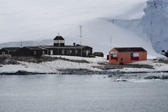Chilean Antarctic Research base Gonzalez Videla. Situated on the Antarctic Peninsula at Paradise Bay, Antarctica Royalty Free Stock Photography
