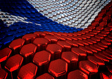 Chilean background  theme - 3D render Stock Photography