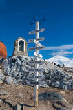Chilean base Antarctica directions pole Royalty Free Stock Photography