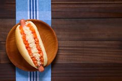 Chilean Completo Hot Dog Stock Photos