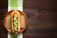 Chilean Completo Italiano Hotdog Sandwich Royalty Free Stock Image