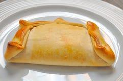 Chilean Empanada. Shot of a typical chilean Empanada Royalty Free Stock Photography