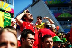 Chilean fan at the 2014 FIFA World Cup Royalty Free Stock Photos