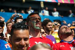Chilean fans at the 2014 FIFA World Cup Stock Photography