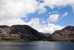 Chilean Fjords And Canal Sarmiento Royalty Free Stock Photography