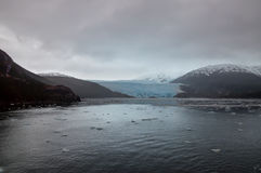 Chilean Fjords on a overcast rainy day. Royalty Free Stock Images