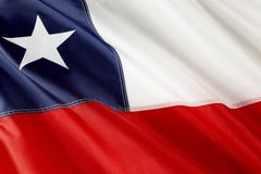 Chilean flag Royalty Free Stock Image