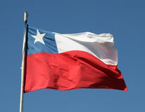 Chilean flag Stock Photo