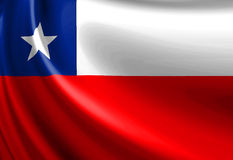 Chilean flag Stock Image