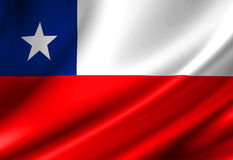Chilean flag Royalty Free Stock Photography