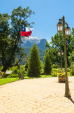 Chilean flag in a beautiful square Stock Image