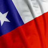 Chilean Flag Closeup Royalty Free Stock Photography