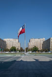 Chilean Flag in front of La Moneda Palace - Santiago, Chile Royalty Free Stock Photos