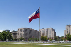 Chilean flag, Santiago de Chile Royalty Free Stock Photo