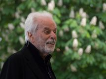 Chilean-French artist, writer and philosopher Alejandro Jodorowsky on Book World Prague 2019 stock images