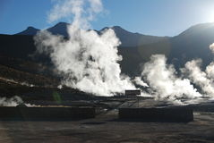 Chilean geysers royalty free stock image
