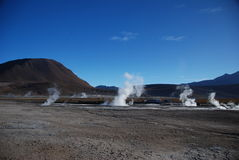 Chilean geysers royalty free stock photo