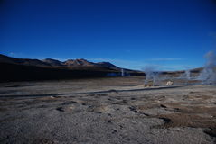 Chilean geysers royalty free stock photography