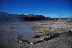 Chilean geysers Royalty Free Stock Photos