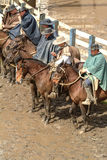 Chilean huasos in rodeo championship. Chilean huasos compete in rodeo championship Royalty Free Stock Photos