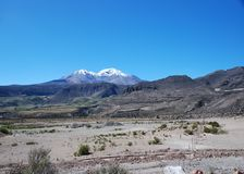 Chilean landsacpe. The landscape of north of Chile near the village of Putre (3500m Stock Image