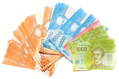 Chilean money. Royalty Free Stock Photo