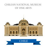 Chilean National Museum of Fine Arts Chile vector attraction Royalty Free Stock Photography