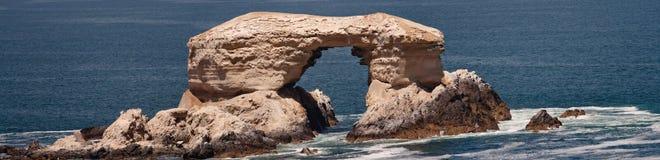 Chilean natural monument La Portada. Shoot on a tour in Antofagasta, Chile Royalty Free Stock Photos