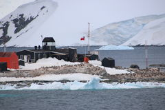 Chilean Outpost in Antarctica Royalty Free Stock Image