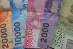 Chilean Pesos Royalty Free Stock Images