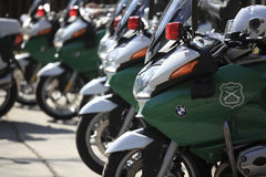 Chilean police motorcycle Royalty Free Stock Photo