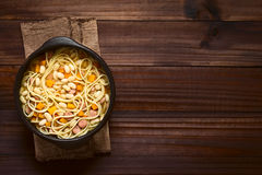Chilean Porotos con Riendas Beans with Pasta Dish Stock Image