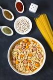 Chilean Porotos con Riendas Beans with Pasta Dish Stock Photos