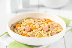 Chilean Porotos con Riendas Beans with Pasta Dish Royalty Free Stock Images