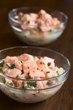 Chilean Salmon Ceviche Stock Images