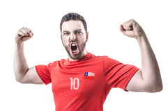 Chilean Soccer player on white background Royalty Free Stock Photo