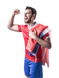 Chilean Soccer player on white background Royalty Free Stock Photos