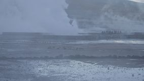Chilean Tatio geysers stock video