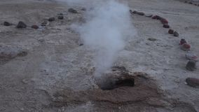 Chilean Tatio geysers stock video footage