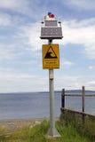 Chilean tsunami warning sign, Chile Stock Image