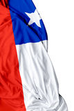Chilean waving flag on a white background Stock Image