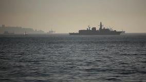 Chileens Oorlogsschip stock videobeelden