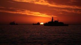 Chileens Oorlogsschip stock footage